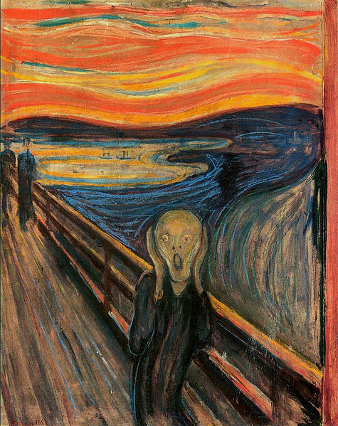 Edvard Munch's The Scream (in public domain)