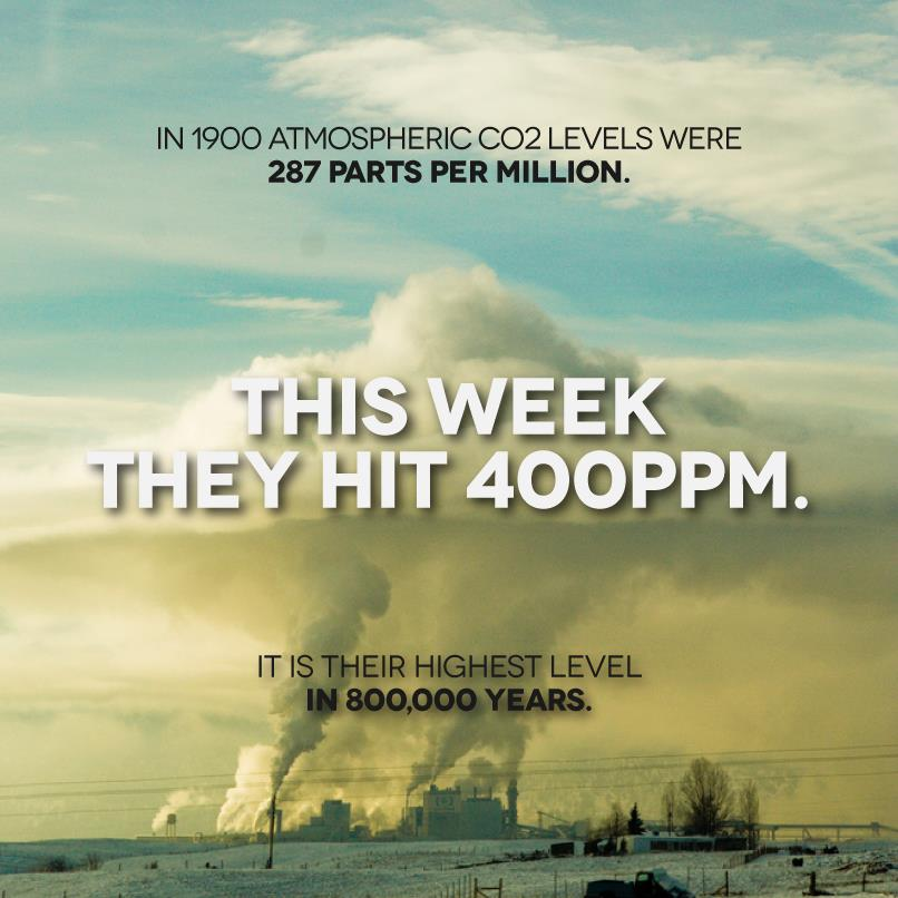 four hundred ppm milestone reached