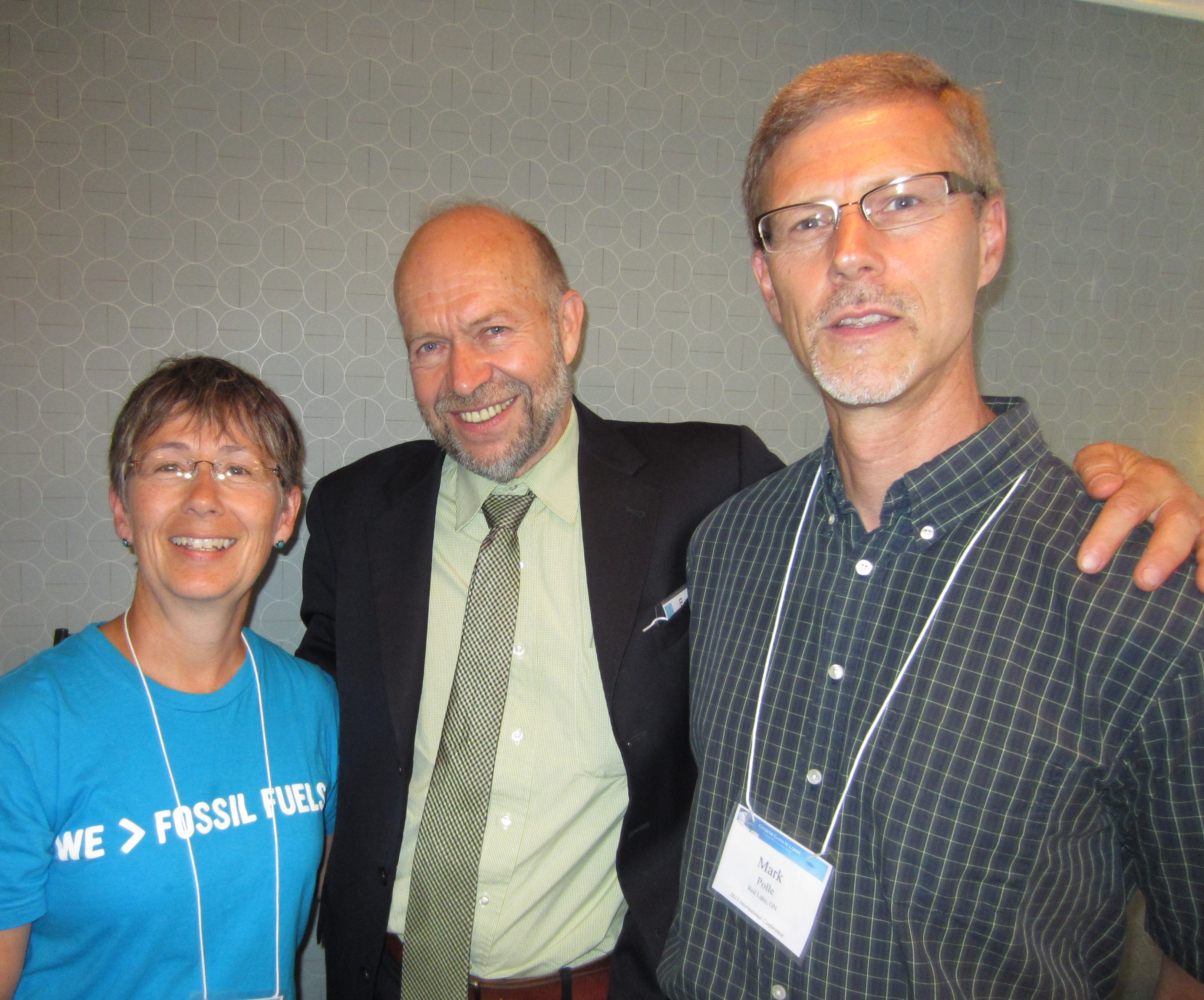 Mark and me with Dr James Hansen, Washington DC, June 2013